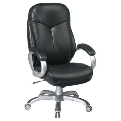 Office Star Products Work Smart High-Back Executive Chair with Padded Arms