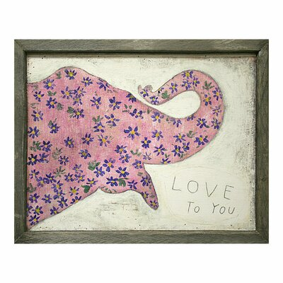 Sugarboo Designs Pink Elephant Art Print