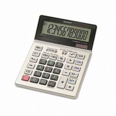 Sharp VX-2128V Compact Desktop Calculator, 12-Digit LCD