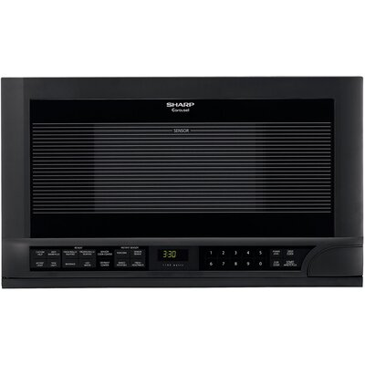 Sharp 1100W Over the Counter Microwave Oven in Black