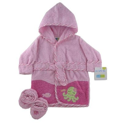 Triboro Just Born Frog Woven Terry Robe and Bootie Set