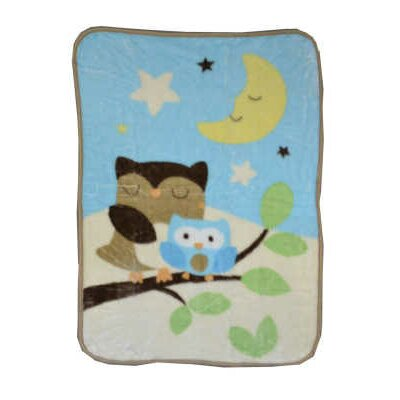 Triboro Just Born Goodnight Owl Hi-Pile Blanket