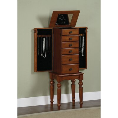 powell antique black petite ebony jewelry armoire with. Black Bedroom Furniture Sets. Home Design Ideas