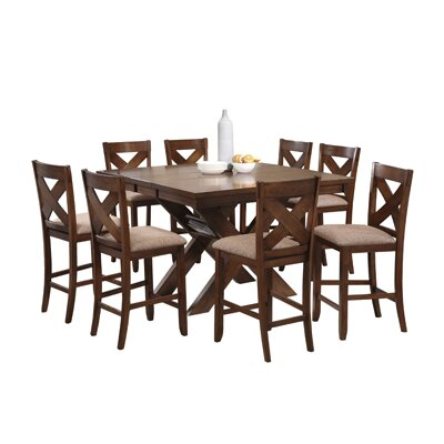Powell Furniture Kraven 9 Piece Counter Height Dining Set