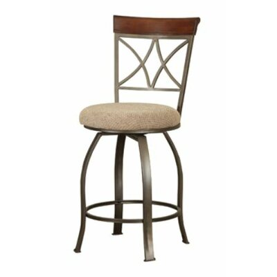 Powell Furniture Cafe Hamilton Swivel Counter Stool in Cherry