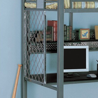 Powell Furniture Monster Bedroom Twin Study Bunk Bed with Desk and Built-In Ladder