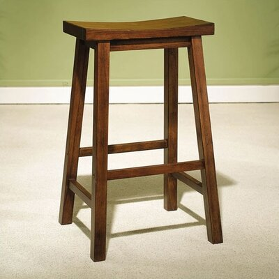 "Powell Furniture Honey Brown 29"" Saddleseat Bar Stool"