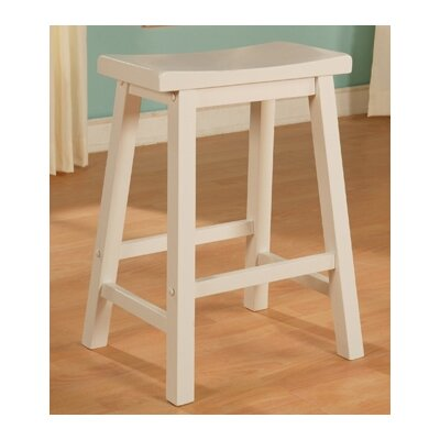 "Powell Furniture Color Story 24"" Pure White Counter Stool"