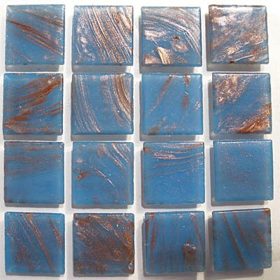 "Diamond Tech Tiles Mosaics 12"" x 12"" Gold Swirl Glass Tile in Blue Gray"
