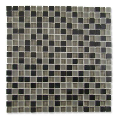 "Diamond Tech Tiles Impact 12"" x 12"" Glass, Tile, and Metal Mosaic in Nocturne"