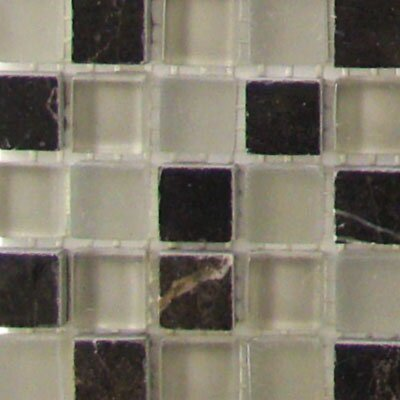 "Diamond Tech Tiles Impact 12"" x 12"" Glass, Tile, and Metal Mosaic in French Roast"