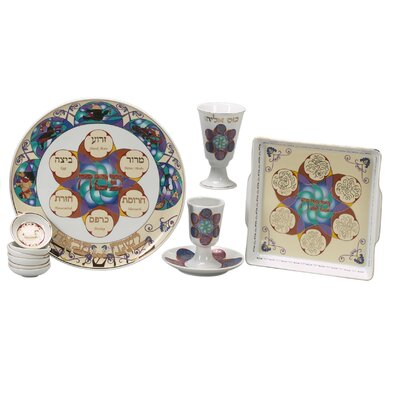 Israel Giftware Design Modern Porcelain Seder Set