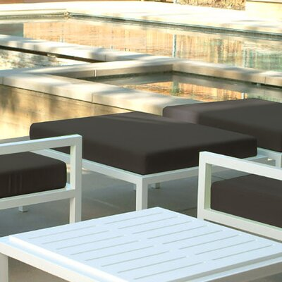 Modern Outdoor Talt Ottoman with Cushion
