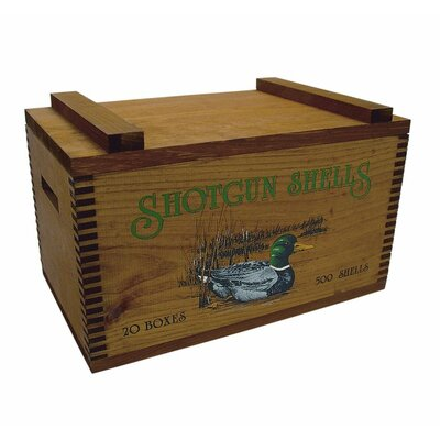 Large Storage Box with Colored Duck/Shot Shells Print