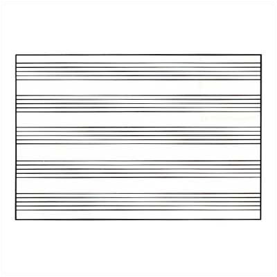 Marsh Graphics Markerboards - Music Staff Lines 4' x 6'