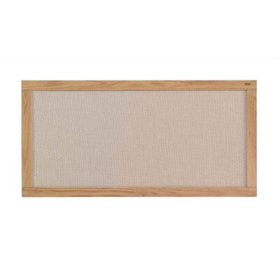 Marsh Burlap Fabric Covered Bulletin Boards - Oak Frame
