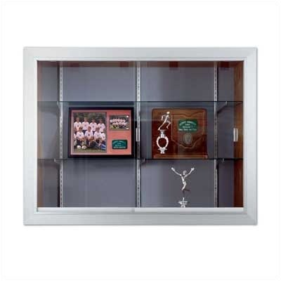 Marsh Series 60 Recessed Sliding Glass Door Trophy Cases - Plas-Cork Back (Without Lighting)