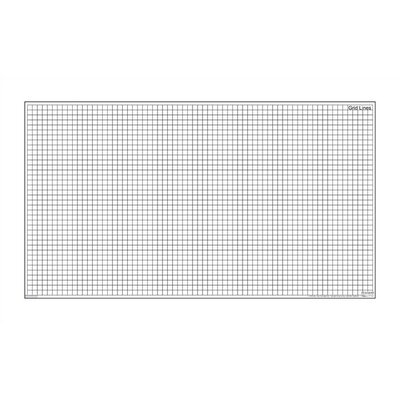 "Marsh Magnetic Dry-Erase Teaching Aides Mat - Grid Lines 40""H x 40""W x .1""D"