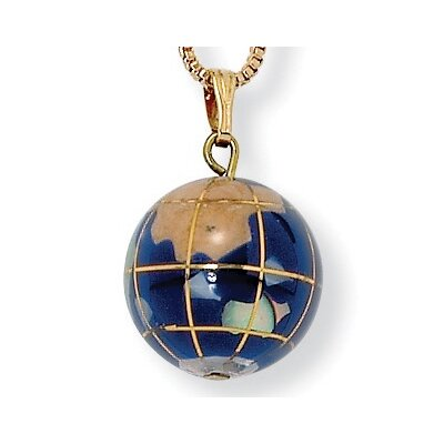 Palm Beach Jewelry Gold Plated Mosaic Globe Pendant