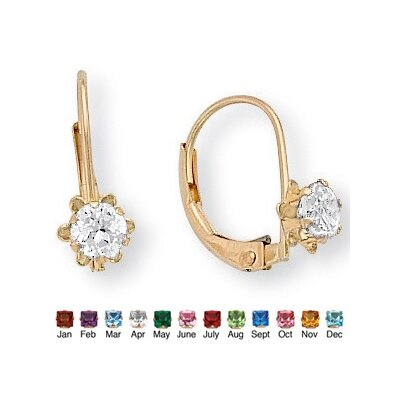 Palm Beach Jewelry Gold Genuine Birthstone Earrings