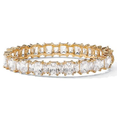 Gold Plated Cubic Zirconia Bangle Bracelet
