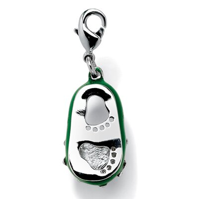 Palm Beach Jewelry Silvertone Birthstone Enamel Shoe Charm