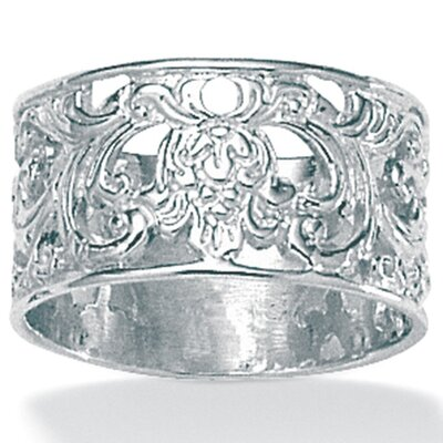 Palm Beach Jewelry Silver Filigree Band