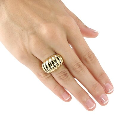 Palm Beach Jewelry Dome Shrimp Ring