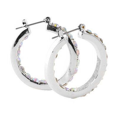 Palm Beach Jewelry Aurora Borealis Crystal Earrings