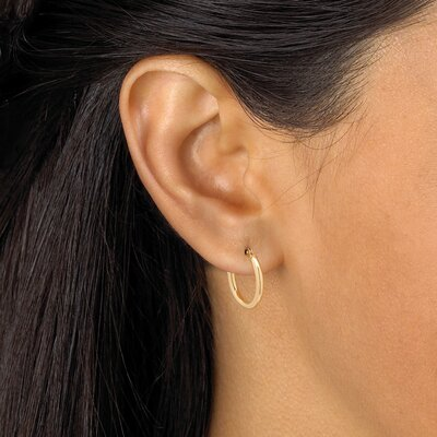 Palm Beach Jewelry Tubular Hoop Pierced Earrings