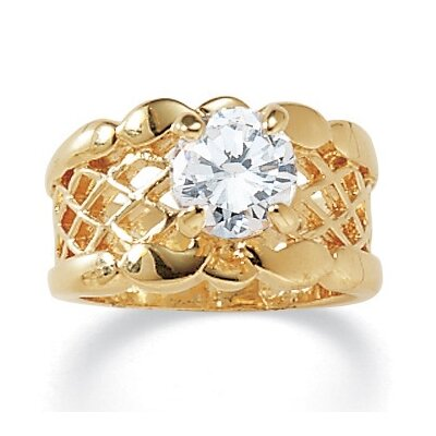 Palm Beach Jewelry Cubic Zirconia Filigree Band