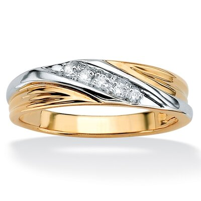 Palm Beach Jewelry 10k Gold Men's Diamond Wedding Band