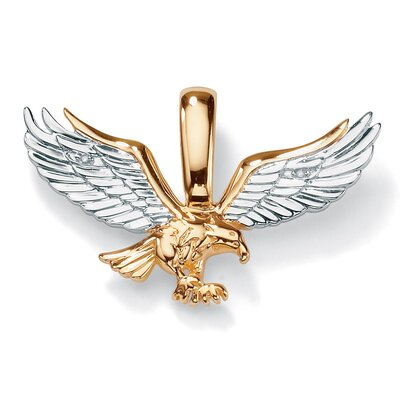 Men's 10k Yellow Gold Diamond Eagle Pendant