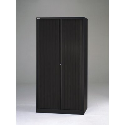 "Bisley 78"" Tambour Door Cabinet with Eight Full Media Storage Drawers"