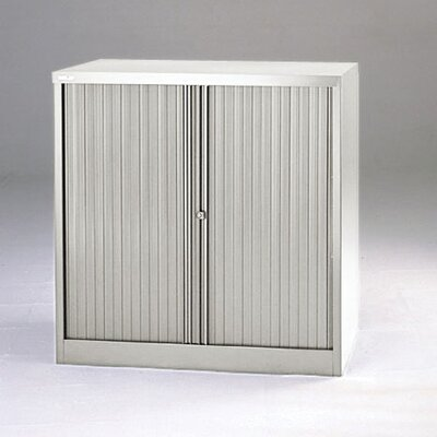 "Bisley 40"" Tambour Door Cabinet with Two Binder Storage Shelves"