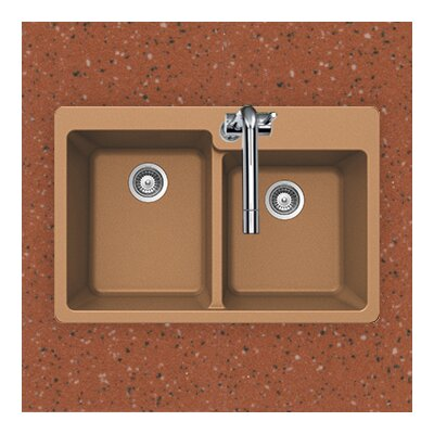 Madison Series Topmount 60/40 Double Bowl Sink