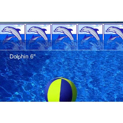 "Borderlines Do-It-Yourself Classic 6"" Playful Dolphin Pattern Borderlines Pool Makeover Kit"