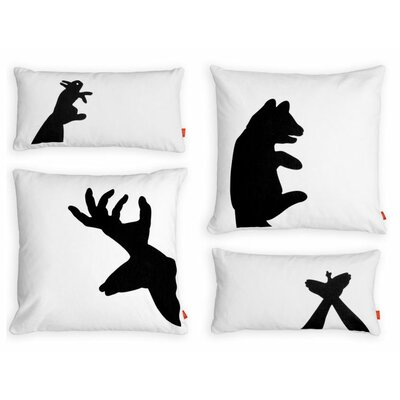 Gus* Modern Shadow Puppets Graphic Pillows (Set of 4)