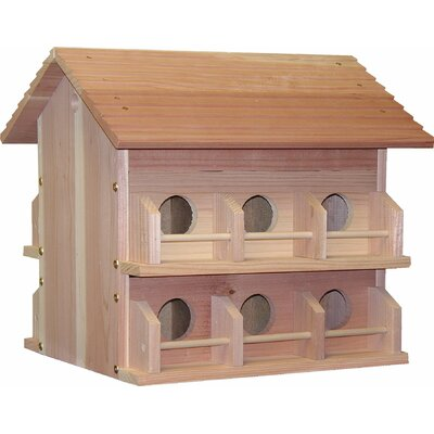 Heath Outdoor Products Deluxe Redwood Martin House With Rails