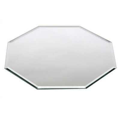 "Buffet Enhancements 14"" Octagonal Beveled Glass Centerpiece Mirror with Case (Set of 10)"