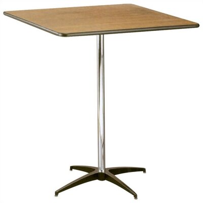 "Buffet Enhancements 36"" Square Pub Height Pedestal Table"