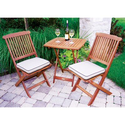 Outdoor Interiors 3 Piece Bistro Set