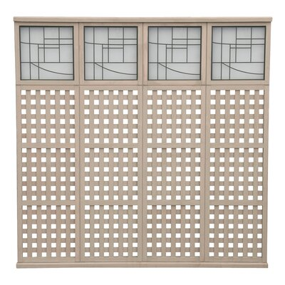 4 High Lattice with Faux Glass Panel