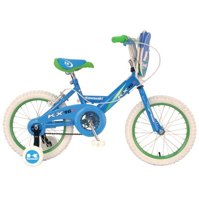 Kawasaki Girls KX16G BMX Bike with Training Wheels