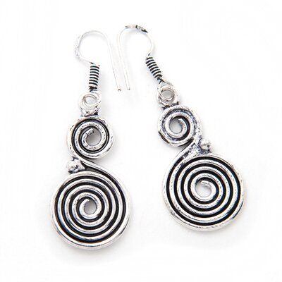 Handmade Swirl Earrings