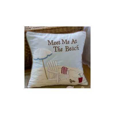 Taylor Linens Meet Me At The Beach Pillow