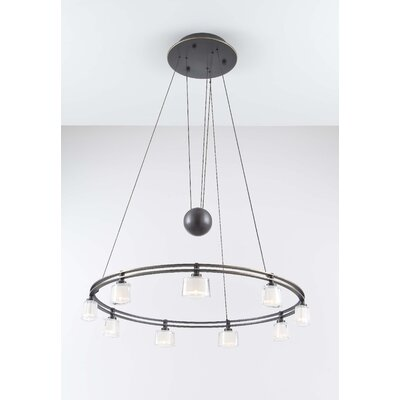 Holtkötter Krystall Ellipse 9 Light Chandelier
