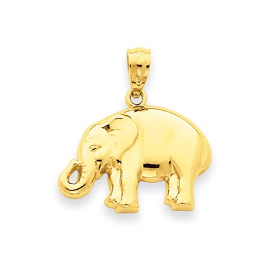 Jewelryweb 14k Polished Elephant Pendant