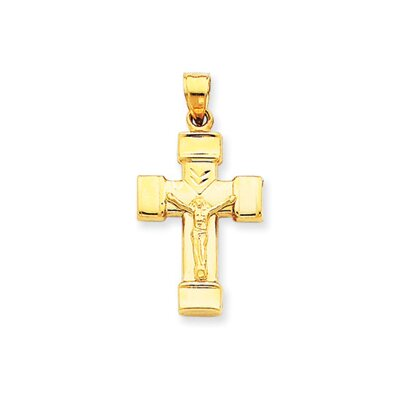 14k Reversible Crucifix Cross Pendant