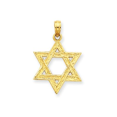 14k Star of David Pendant- Measures 26.5x17.5mm